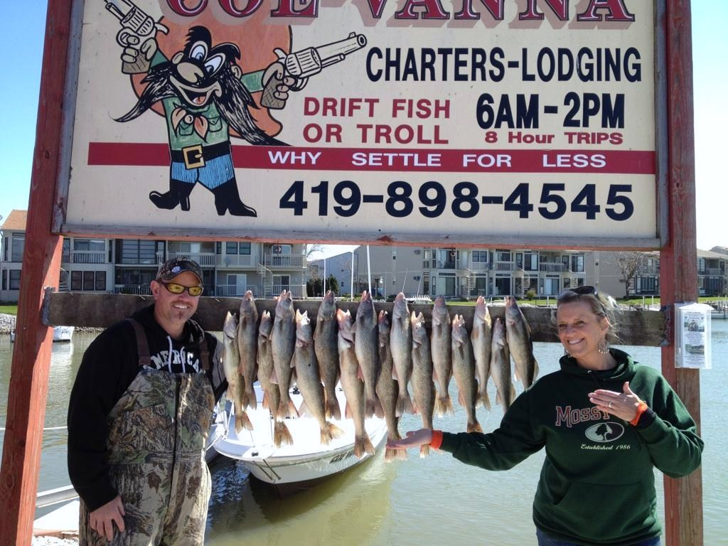 Limit catch of Lake Erie walleye